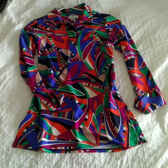 Jude Connally vintage pattern blouse shirt top